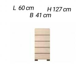 Комод высокий Status Perla PLBWLCM02