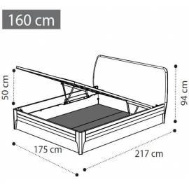 Кровать 160х200 изножье экокожа с контейнером Akademy Camelgroup