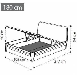 Кровать 180х200 изножье экокожа с контейнером Akademy Camelgroup