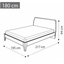 Кровать 180х200 Camelgroup Akademy мягкая спинка 153LET.06OT