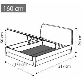 Кровать 180х200 с контейнером Akademy Camelgroup