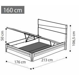 Кровать Fold 160х200 экокожа, подъемник коллекции Akademy Camelgroup