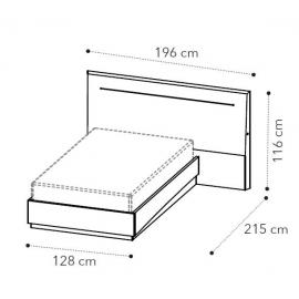 Кровать 120x200 Camelgroup Platinum Legno 136LET.95PL
