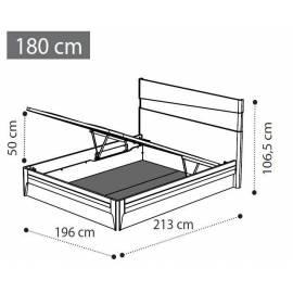 Кровать Fold 180х200 экокожа, подъемник коллекции Akademy Camelgroup