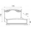 Кровать с изголовьем с ковкой и изножьем Palazzo Ducale Ciliegio Prama 160 см, 71CI43LT, 71CI44LT - Фото 2