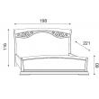 Кровать с изголовьем с ковкой и изножьем Palazzo Ducale Ciliegio Prama 180 см, 71CI45LT - Фото 2