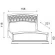 Кровать с резным изголовьем и изножьем Palazzo Ducale Ciliegio Prama 140 см - Фото 2