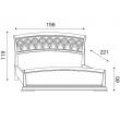 Кровать с резным изголовьем и изножьем Palazzo Ducale Ciliegio Prama 180 см - Фото 2