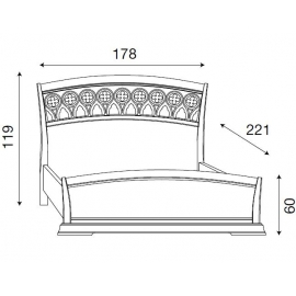 Кровать с резным изголовьем и изножьем Palazzo Ducale Ciliegio Prama 160 см