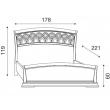 Кровать с резным изголовьем и изножьем Palazzo Ducale Ciliegio Prama 160 см - Фото 2