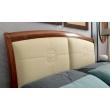 Кровать с кожаным изголовьем и изножьем Palazzo Ducale Ciliegio Prama 140 см - Фото 3