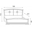 Кровать с кожаным изголовьем и изножьем Palazzo Ducale Ciliegio Prama 180 см - Фото 2