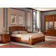 Кровать с резным изголовьем без изножья Palazzo Ducale Ciliegio Prama 140 см - Фото 3