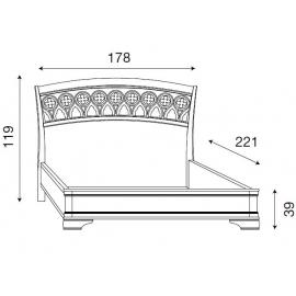 Кровать с резным изголовьем без изножья Palazzo Ducale Ciliegio Prama 160 см