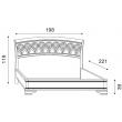 Кровать с резным изголовьем без изножья Palazzo Ducale Ciliegio Prama 180 см - Фото 2