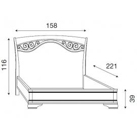 Кровать с ковкой без изножья Palazzo Ducale Ciliegio Prama 140 см