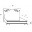 Кровать с ковкой без изножья Palazzo Ducale Ciliegio Prama 140 см - Фото 2