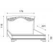 Кровать с ковкой без изножья Palazzo Ducale Ciliegio Prama 160 см - Фото 2