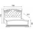 Кровать с мягким изголовьем ковкой и изножьем Palazzo Ducale Ciliegio Prama 140 см - Фото 2