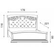 Кровать с мягким изголовьем ковкой и изножьем Palazzo Ducale Ciliegio Prama 160 см 71CI64LT - Фото 2