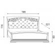 Кровать с мягким изголовьем ковкой и изножьем Palazzo Ducale Ciliegio Prama 180 см 71CI65LT - Фото 2