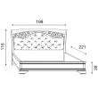Кровать с мягким изголовьем ковкой без изножья Palazzo Ducale Ciliegio Prama 180 см 71CI75LT - Фото 2