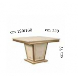 Обеденный стол 120/160х120 Arredo Classic Fantasia квадратный раздвижной