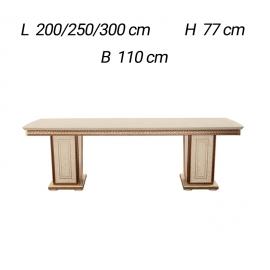 Прямоугольный стол раздвижной  с 2 вставками Arredoclassic Fantasia