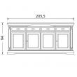 Прилавок 4-дверный Palazzo Ducale Laccato Prama 71BO06 - Фото 2