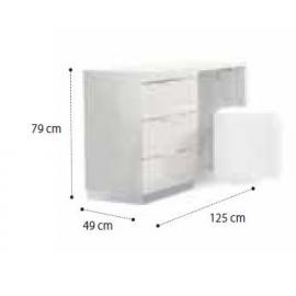 Письменный / туалетный стол 125 см Onda White Camelgroup