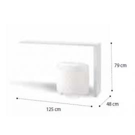 Покрытие Серебристая берёза с глянцем Туалетный стол (столешница) Platinum Camelgroup