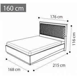 Кровать Rombi 160 темная обивка Ambra Camelgroup