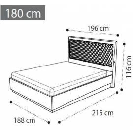 Кровать Rombi коллекции Ambra Camelgroup, 180 см темная обивка
