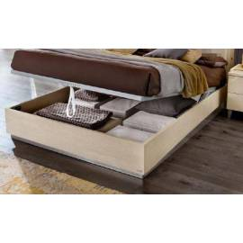 Кровать Rombi Ambra Camelgroup с контейнером, 180 см темная обивка
