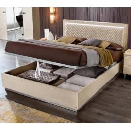 Кровать 160 Rombi Ambra Camelgroup с контейнером, обивка беж
