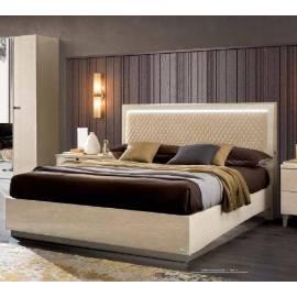 Кровать 180 Rombi Ambra Camelgroup с контейнером, обивка беж