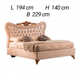 Кровать с набивным каркасом изголовьем 160х200 Arredo Classic Modigliani