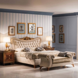 Кровать 200х200 Arredo Classic Modigliani с мягким и каркасом изголовьем