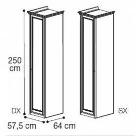 Шкаф 1-дверный высокий Nostalgia Bianco Antico Camelgroup