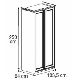 Шкаф 2-дверный высокий Nostalgia Bianco Antico Camelgroup