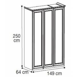 Шкаф 3-дверный высокий Nostalgia Bianco Antico Camelgroup