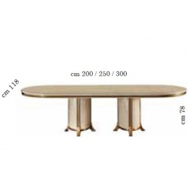 Стол раскладной с 2 вставками Arredo Classic Melodia