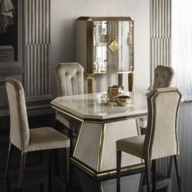 Стол обеденный квадратный 120/160х120 Arredo Classic Adora Diamante, раскладной