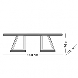 Стол обеденный 200х110 Arredo Classic Adora Diamante