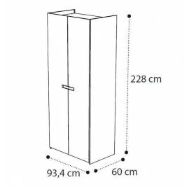 Шкаф 2 дверный Ambra Camelgroup без зеркал