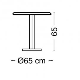 Столик 65х65 Arredo Classic Adora Diamante, круглый