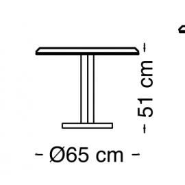 Столик 65х51 Arredo Classic Adora Diamante, круглый
