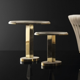 Столик приставной ø50 h65 Arredo Classic Adora Diamante, круглый