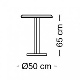 Столик 50х65 Arredo Classic Adora Diamante, круглый