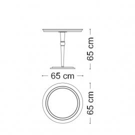 Столик приставной  65 h65 Arredo Classic Adora Sipario, круглый